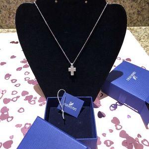 Swarovski Crystal Mini Cross Pendant